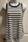 Old+Navy+Tank+Top+White+Off+with+Black+Stripes+Size+M