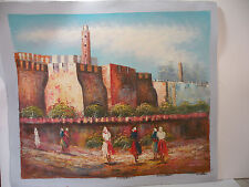 jerusalem Art canvas color Hand oil paint Modern Abstract Picture Duotone 24x20