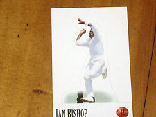 CRICKET - IAN BISHOP - *RARE-  SELECT STAND UP CARD - 1996/97 MINT