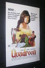 Original QUADROON 1 Sheet Kathrine McKee BLAXPLOITATION