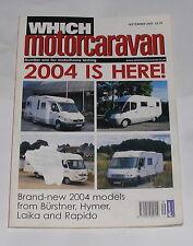 WHICH MOTORCARAVAN - 2004 IS HERE - SEPTEMBER 2003