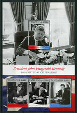 Tanzania 2017 MNH JFK John F Kennedy 100th Bday 4v M/S I US Presidents Stamps