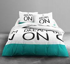 Parure de couette 100 coton Today 220x240 Dream on Color - Livraison gratuite F