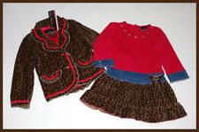 My Vintage Baby~Leopard Ladies Pink Girls Denim Dress~Leopard Coat Jacket 4 4T 5
