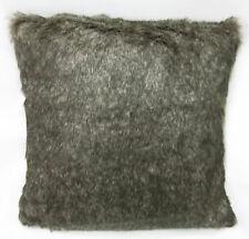 Fq805a Olive Grey Thick Long Plush Faux Fur Cushion Cover/Pillow Case*Custom Siz