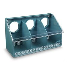 Pigeon budgie finch cage Bird Feeder - 3 Hole Clear Lid