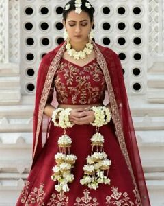 White Flower Jewelry For bridal Hathphool ,Matching Necklace,Earrings full set