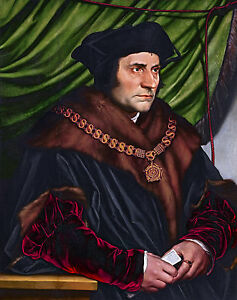 Hans Holbein, the Younger - Sir Thomas More, Holbein Art Poster, Canvas Print