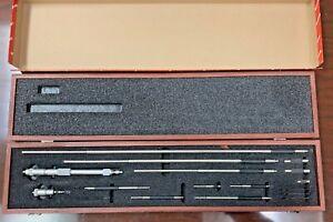 "Starrett micrometer 124DZ,   2-32X.001"" With Case.  NEW IN OPEN BOX"