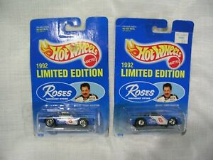 1992 Hot Wheels #6 Tommy Houston Roses Stores promo 1/64 scale cars *set of 2*
