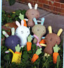 PATTERN - Funny Bunny - cute felt softie toy bunny PATTERN - Two Brown Birds