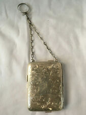 New listing Vintage Silver Compact Coin Dance Wrist Purse