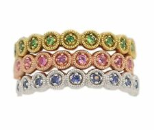 ESTATE STACKABLE GEMS SAPPHIRE RING STERLING SILVER KENDALL KYLIE KIM STYLE