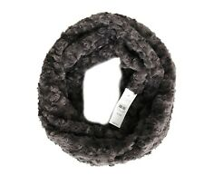 LOFT - Womens - NWT$59 - Super Soft Plush Gray Curly Faux Fur Infinity Scarf