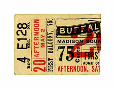 Orig Ticket Stub to Buffalo Bill Cody's Wild West Show