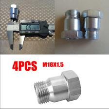 4 Pcs M18x1.5 Car Vehicles Oxygen Sensor Test Pipe O2 Extender Extension Adapter