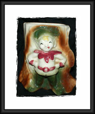 Elf Pixie Tree Stump Planter McCoy Art Pottery Vase POTTERY XMAS RED #1