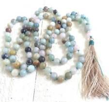 Amazonite gemstone 8MM 108 Mala Necklace Prayer beads yoga tassel Bracelet