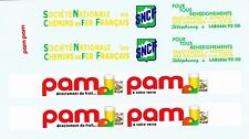 decals pour Dinky: Unic semi-remorque: Pam-Pam, SNCF
