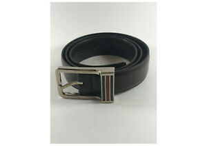 Gucci men's leather belt - Brown - Stylish Silver Buckle - Excellent Condition