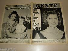 GENTE 1964/37=JACKIE KENNEDY=ENZO PAGANI=MARIO ANZIDEI=CARAVAGGIO BERGAMO=