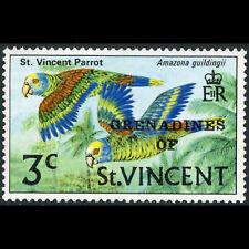 GRENADINES of ST VINCENT 1974 3c Bird. Type 3 Ovpt. Side Wmk SG 25a MLH. (AR627)
