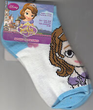 Socks, Girls, Size 4-6, Sofia The First Design by Planet Sox, White, Brand New