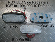 RDX LED CLEAR Side Repeaters 90/110/Defender 1987 to 1994 2.5 TurboDiesel 200Tdi