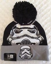 New Era Star Wars Stormtrooper Cuffed Knit Beanie Hat Pom Skully