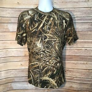 Terramar Mens Hunting T Shirt Sz Medium Performance RealTree Max-5 Camo Stretch