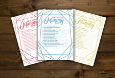 WHO KNOWS MUMMY BEST Baby Shower Game Players Girl Boy Neutral Gender Reveal