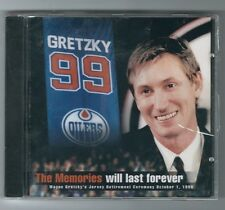 Wayne Gretzky Hockey Jersey Retirement in Edmonton CD, 1999 Oct 1, OILERS