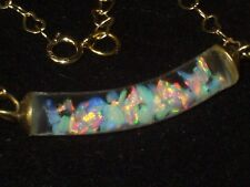 BEAUTIFUL  FLOATING OPAL NECKLACE 14K GOLD FILLED