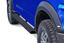 iBoard Running Boards 4in Black Fit 15-20 Ford F150 SuperCrew Cab & 17-20 F250
