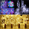 10/15/20 LEDs Wine Bottle Lights Fairy Copper Wire Battery Operated with Cork