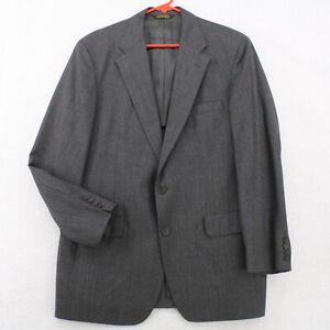 Vtg 80s PALM BEACH HUNTER HAIG Gray Windowpane Blazer Coat Suit Jacket Men's 42R
