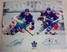 Auston Matthews & John Tavares Maple Leafs 8x10 Photo Signed Autograph Reprint