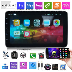 """10.1""""Car Radio Android 10.0 Stereo GPS Navi WiFi Player Up-Down Tune 1+16GB Set"""