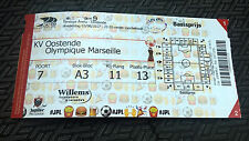TICKET BILLET : KV OOSTENDE - OLYMPIQUE DE MARSEILLE 03/08/2017 EUROPA LEAGUE