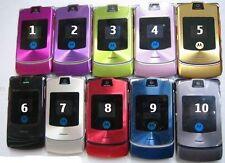 MOTOROLA Razr v3i Mobile Phone-Grigio-Sbloccato-regalo gratuito - 90 giorni di garanzia