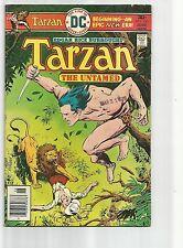TARZAN #250 VF- VERY FINE- WHITE PAGES BRONZE AGE 1976 DC COMICS