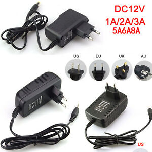 AC100-240V To DC 12V 1/2/3/5/6/8A Power Supply Adapter Transformer for LED Strip
