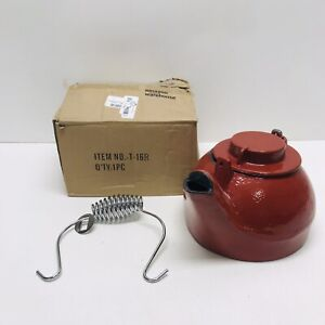 Fire Beauty Humidifying Iron Kettle Stove Humidifier Wood Stove Red-Defect-Read