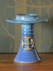 Cobalt Blue Canterbury Studio Pottery Ecclesiastical Candle Holder