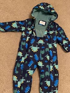 Boys Navy Mix Hooded Snowsuit Age 18-24 Months From Marks & Spencer