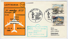 1966 Berlino stampati con Lufthansa LH 380 a Praga Boeing b727 Europa JET