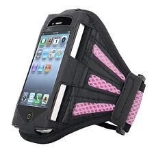 Armband Cell Phone Jogging Gym etc INSTEN Black / Purple New