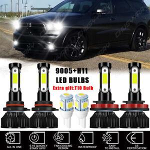 For Dodge Durango 2016-2020 6000K Combo 4X LED Headlights + Fog Lights Bulbs Kit