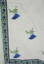 New Hand Block Print Kantha Quilted Quilt throw Bedspread Razai Winter Quilt