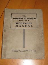 "Morris Oxford - Taller Manual - Serie ""MO ""Original Inglés"
